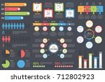 set of infographic elements on... | Shutterstock .eps vector #712802923