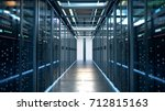 network server room with... | Shutterstock . vector #712815163