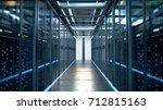 network server room with... | Shutterstock . vector #712815163