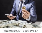 businessman receive a lot of... | Shutterstock . vector #712819117