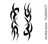 tribal tattoo art designs.... | Shutterstock .eps vector #712825477
