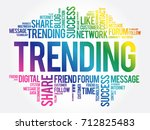 trending word cloud collage ... | Shutterstock .eps vector #712825483