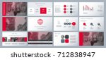 gray and red elements on a... | Shutterstock .eps vector #712838947