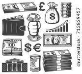 vintage cash elements... | Shutterstock .eps vector #712839457