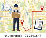 service of fast delivery....   Shutterstock .eps vector #712841647