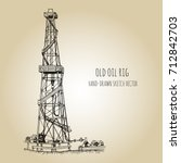 rig for exploration and... | Shutterstock .eps vector #712842703