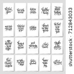 set of 20 black and white hand... | Shutterstock .eps vector #712843033