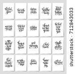 set of 20 black and white hand... | Shutterstock .eps vector #712843033