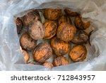 walnuts to zero kilometers... | Shutterstock . vector #712843957