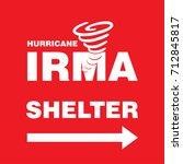 hurricane irma shelter right... | Shutterstock .eps vector #712845817