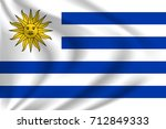 uruguay flag background with... | Shutterstock .eps vector #712849333