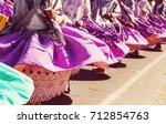 authentic peruvian dance | Shutterstock . vector #712854763