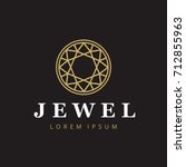 jewelry company logotype.... | Shutterstock .eps vector #712855963