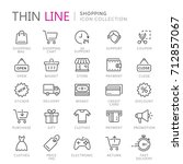 collection of shopping thin... | Shutterstock .eps vector #712857067