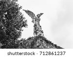 the angel by llimona  1895 ... | Shutterstock . vector #712861237