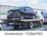 help on road transports wrecker ... | Shutterstock . vector #712864783