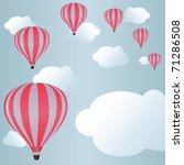 hot air balloons among clouds... | Shutterstock . vector #71286508