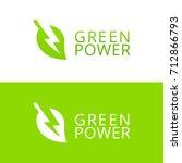 green energy vector symbol icon ... | Shutterstock .eps vector #712866793