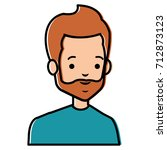 young man avatar character | Shutterstock .eps vector #712873123