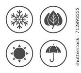 Seasons Icon Vector Design....