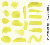 watercolor strokes of yellow... | Shutterstock .eps vector #712895863