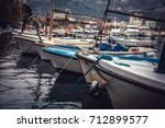 Marine Port With Moored Yachts...