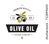 olives label on white... | Shutterstock .eps vector #712899643