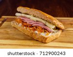 Small photo of tasty sandwich
