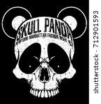 skull t shirt graphic design  | Shutterstock .eps vector #712901593