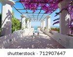 ravello village and sea view ... | Shutterstock . vector #712907647