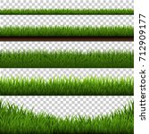grass border big set  vector... | Shutterstock .eps vector #712909177