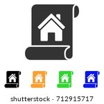 realty description roll icon.... | Shutterstock .eps vector #712915717
