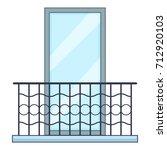 big balcony icon. cartoon... | Shutterstock .eps vector #712920103