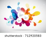 abstract colored background... | Shutterstock .eps vector #712920583