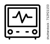 heart beat monitor icon | Shutterstock .eps vector #712921153