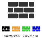 brick wall icon. vector... | Shutterstock .eps vector #712921423
