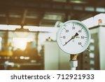closeup of manometer  pressure... | Shutterstock . vector #712921933