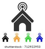 telecom office icon. vector... | Shutterstock .eps vector #712922953