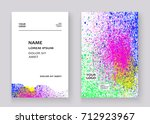 neon colorful explosion paint... | Shutterstock .eps vector #712923967