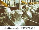 industrial machine in the... | Shutterstock . vector #712924597