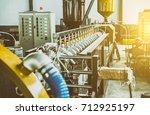 industrial machine in the... | Shutterstock . vector #712925197