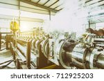 industrial machine in the... | Shutterstock . vector #712925203