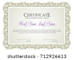 certificate. template diploma... | Shutterstock .eps vector #712926613