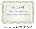 certificate. template diploma... | Shutterstock .eps vector #712926613