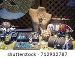 tourist souvenir on sale ... | Shutterstock . vector #712932787
