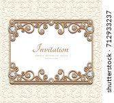 vintage card with diamond... | Shutterstock .eps vector #712933237