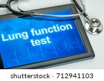 Small photo of Tablet with the text Lung function test on the display