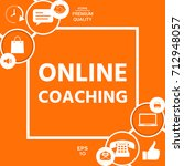 online coaching icon | Shutterstock .eps vector #712948057