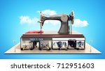 garment industry a concept for... | Shutterstock . vector #712951603