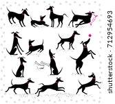 set of silhouettes italian... | Shutterstock .eps vector #712954693